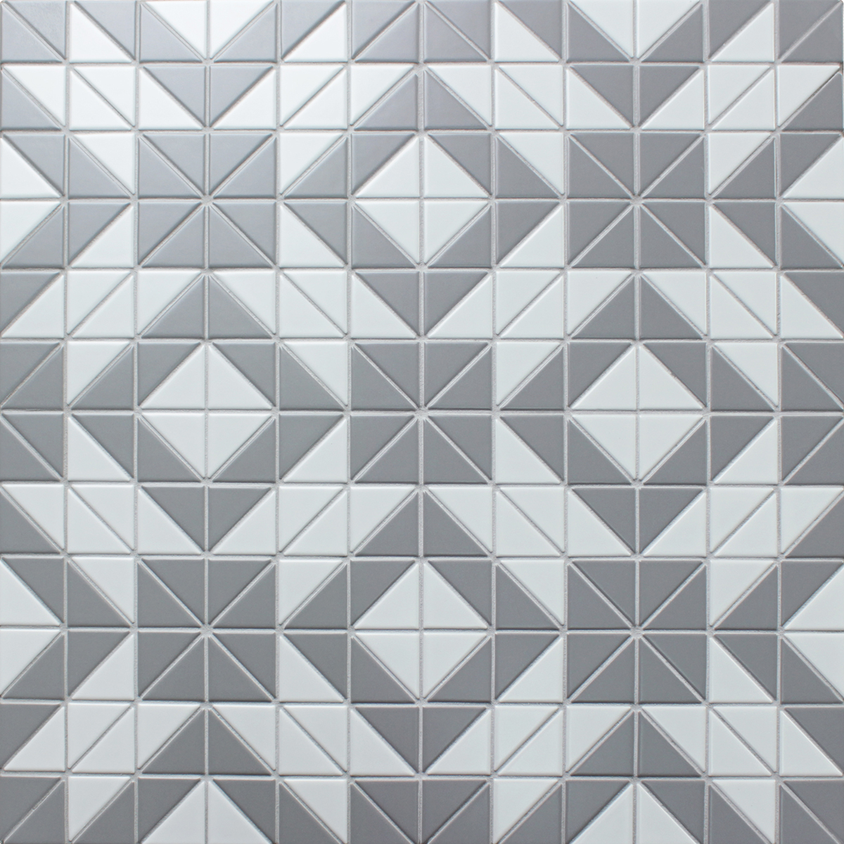 2 Matte Triangle Gray White Triangle Tile Porcelain