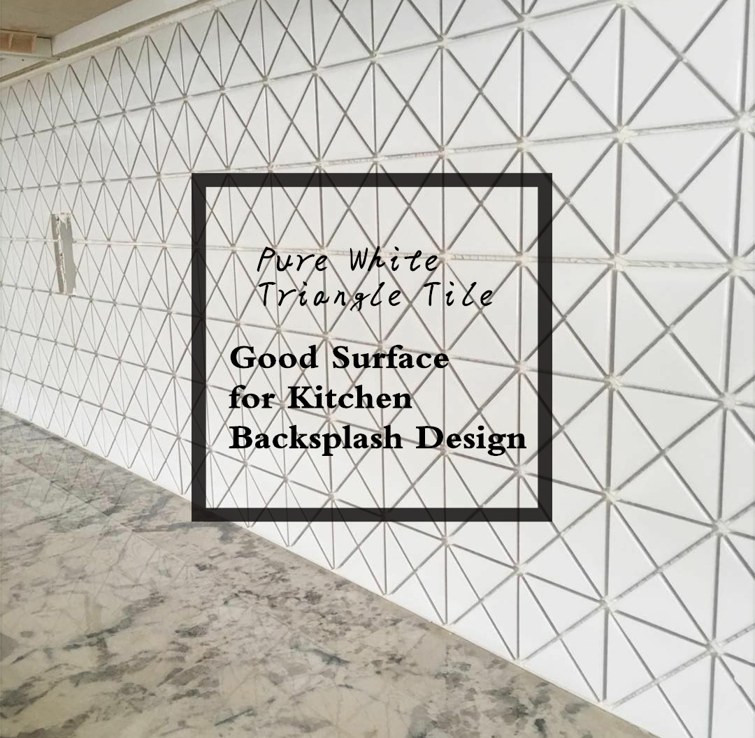 pure white triangle tile good surface
