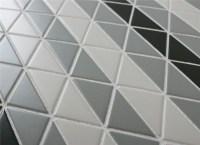 Chino Hill Diagonal 2'' Mosaic Geometric Triangle Tiles ...