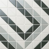Chino Hill Rectangle 2'' Triangle G-Tile Floor Mosaic ...