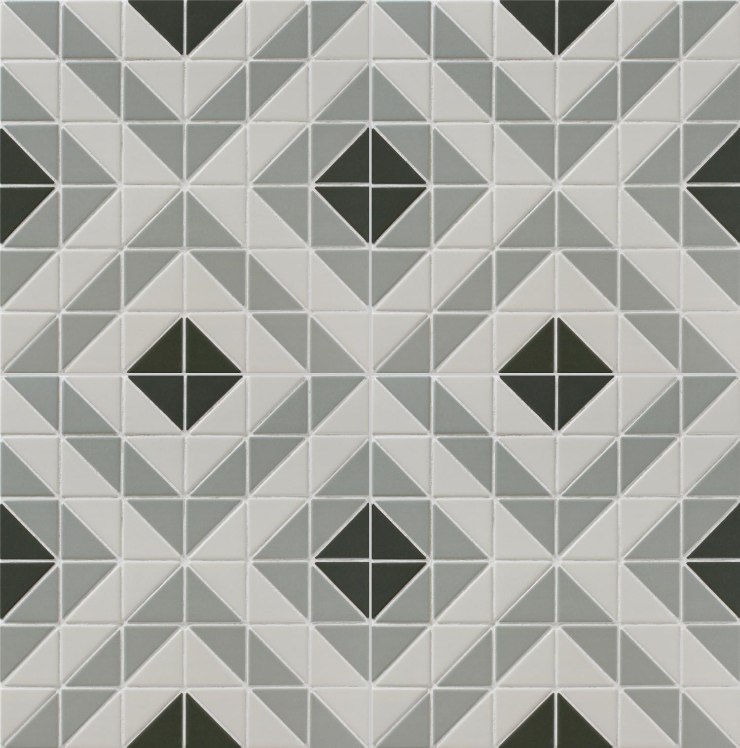 Chino Hill Square 2 Triangle Geometric Tiles Art