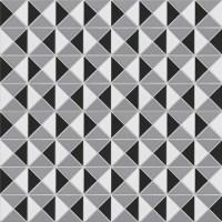 Classic Kaleidoscope 2'' Triangle Geometric Porcelain ...
