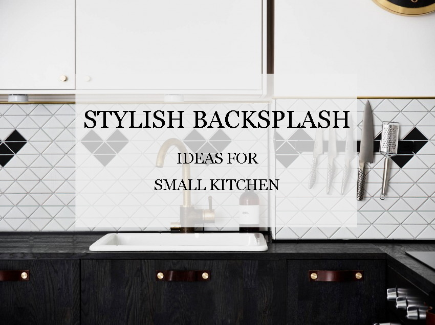 backsplash ideas for small kitchen black tables stylish ant tile triangle