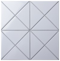 "4"" Cross Junction Glossy White Triangle Tile For Wall ..."