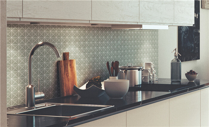 mosaic triangle tiles for antique