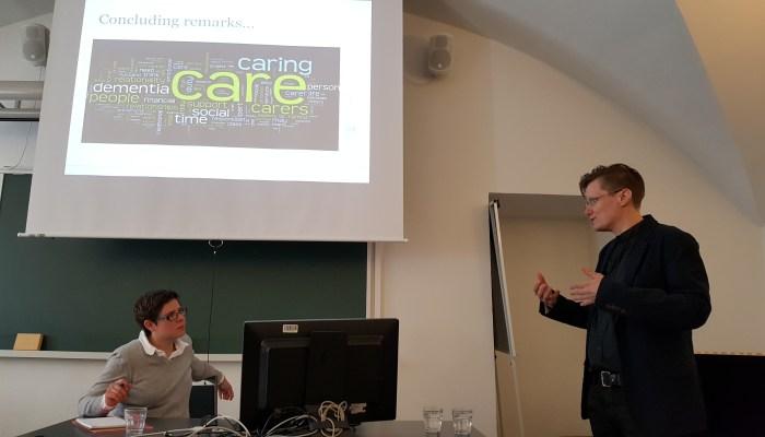 Christina Research Seminar discussion. Antu Sorainen and Rosie Harding