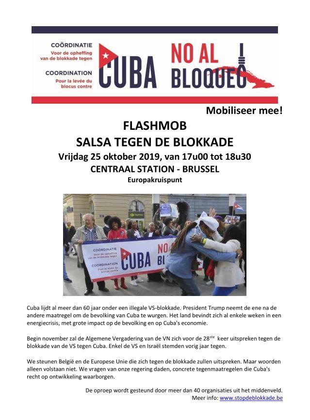 Salsa tegen de blokkade 25/10 – Centraal Station