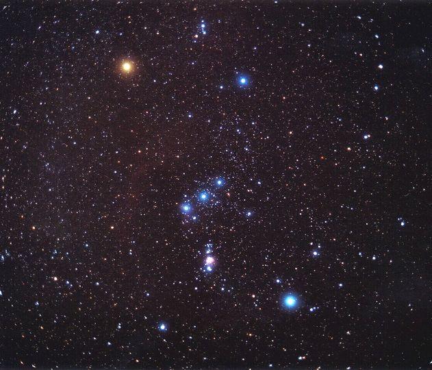 La preciosa constelación de Orión