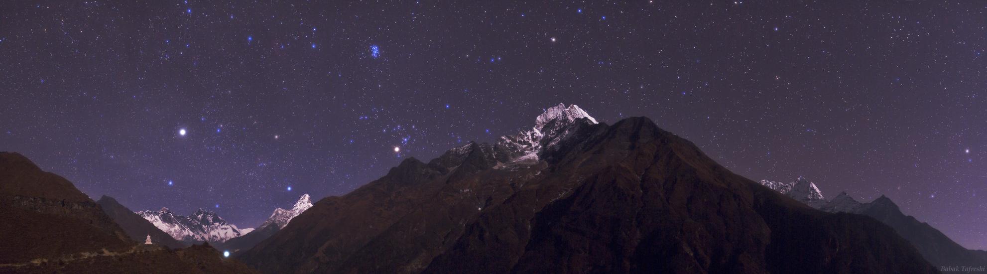 Retrato estelar en el Himalaya