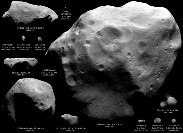 asteroids comets