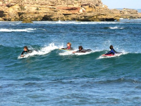 Bodysurferzy w Sorrento, Australia