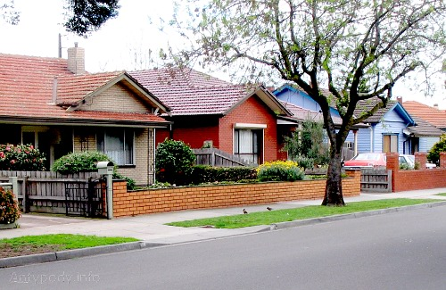 Domki na przedmieściu w Melbourne, Australia