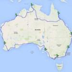 Przykładowe trasy wycieczek po Australii