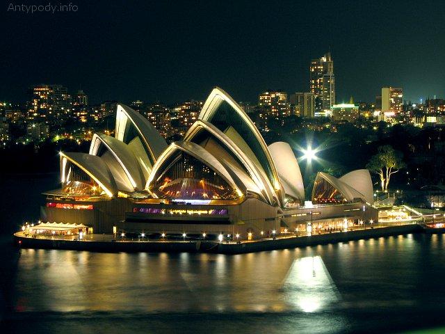 Opera w Sydney, Australia, Sydney nocą, Opera w Sydney nocą