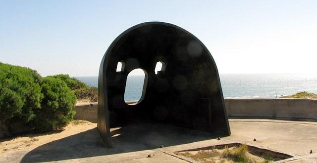 Stanowisko działa na Cheviot Hill, Point Nepean, Victoria, Australia