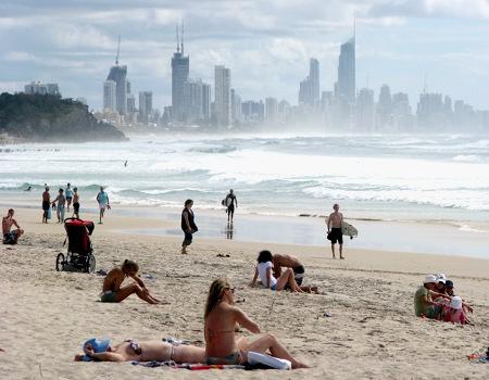 plaża w Gold Coast (Burleigh Heads), Queensland, Australia