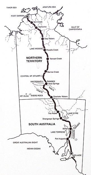 Mapa telegrafu Adelajda-Darwin