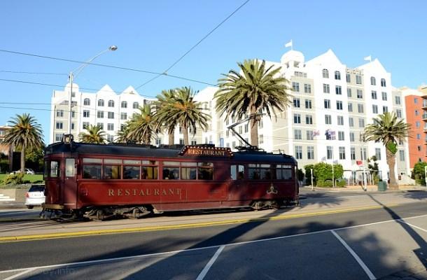 tramwaj-restauracja, St Kilda, Melbourne
