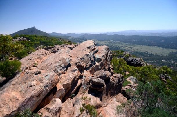 Mount Ohlssen Bagge, Wilpena Pound, Flinders Ranges, Australia Południowa
