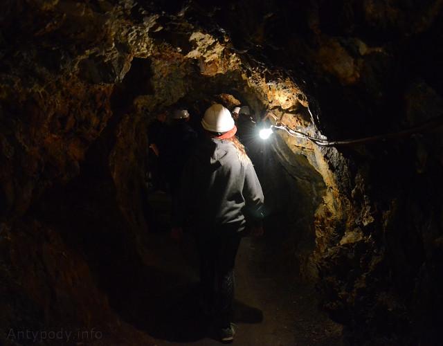 Walhalla, Australia - korytarz kopalni złota