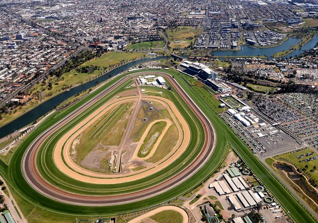 Melbourne z lotu ptaka: Flemington Racecourse