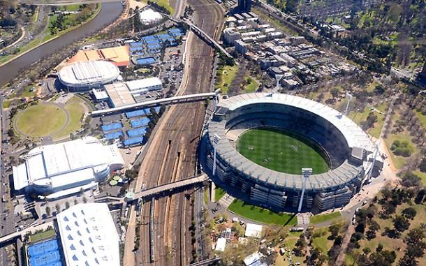 Melbourne z lotu ptaka: MCG