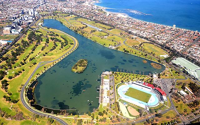 Melbourne z lotu ptaka: Albert Park