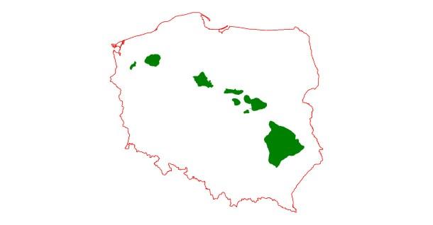 Polska Hawaje - mapka