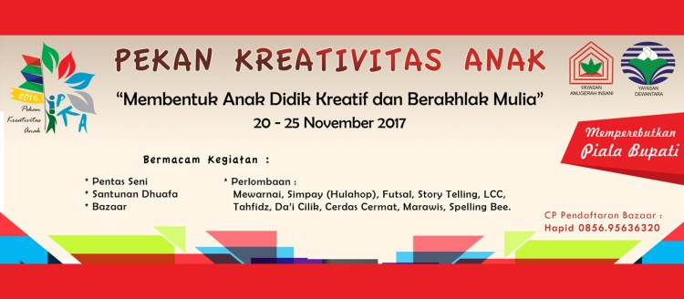 Pekan Kreativitas Anak (PKA) 2017