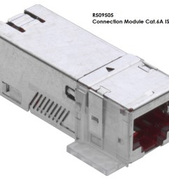 rj45 connection module of cat 6a iso for the setting up of transmission channels of class ea with up to 4 plugged connections acc to  [ 1400 x 900 Pixel ]