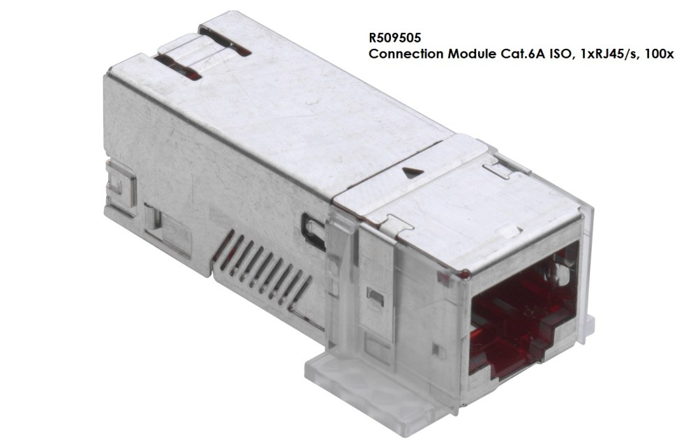 medium resolution of connection module cat 6a iso 1 x rj45 shielded rj45 connection module of cat 6a iso for the setting up of transmission channels of class ea with up to