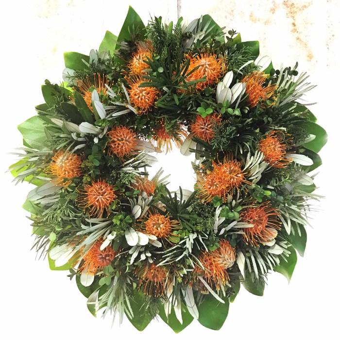 Hawaiian Halloween Wreath