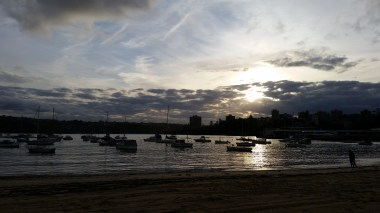 Sunset near Manly's ferry wharf