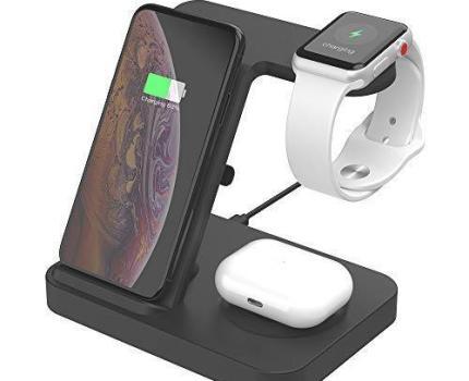即決!新品 SIKAI ワイヤレス充電器 For iphone / apple watch 5 (OS6) / airpods pro 充電 スタンド アップルウォッチ 充電器 3in1
