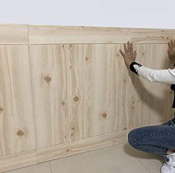 木目 40枚 3D壁紙 DIY壁紙シール 立体 ウォールステッカー防音 パネル タイル レンガ調壁紙シール 防水 40枚