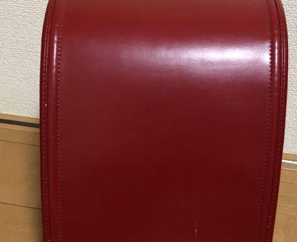 中古ランドセル  赤 女 もち手つき 傷あり 人工皮革 990g 日本製