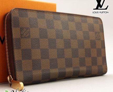 ■【極美品】ルイヴィトン Louis Vuitton ダミエ ジッピー オーガナイザー 長財布 レザー メンズ レディース 定価約12万