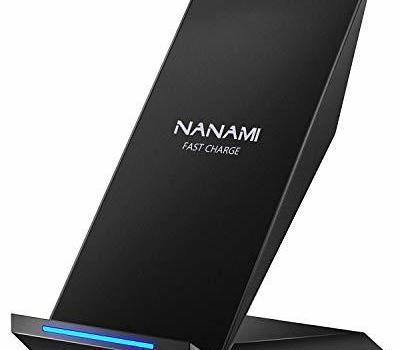 NANAMI ブラック スタンド型 NANAMI ワイヤレス充電器 Qi認証 iPhone 12/12 Pro/Pro