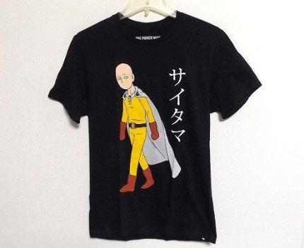 Z9378:新品ONE PUNCH MAN(ワンパンマン)サイタマ Tシャツ/黒/M:3