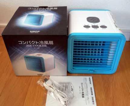 【新品未使用】コンパクト冷風機 小型冷風扇 軽音 扇風機 卓上冷風機 USB給電 省エネ どこでもクーラー