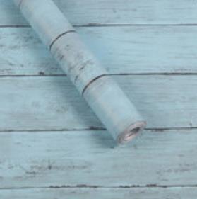 木目調 ウッド 壁紙 ブルー メイプル 楓 セット 45cm×10m クッションブリック 木目調 ウォールステッカー 防水 簡単リフォーム修復