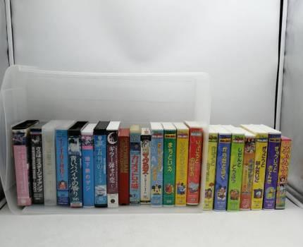 h2717 ビデオテープ VHS 洋画 アニメ 英語教材 まとめ 20本以上 千と千尋の神隠し/マクロス/ディズニー英語 等 幼児教材 現状品