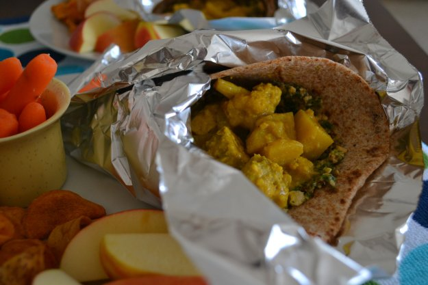 Curried Tempeh Wrap