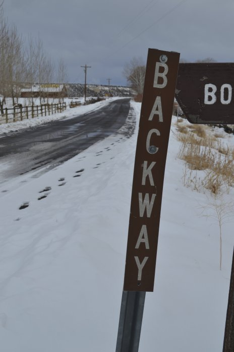 Backway Sign