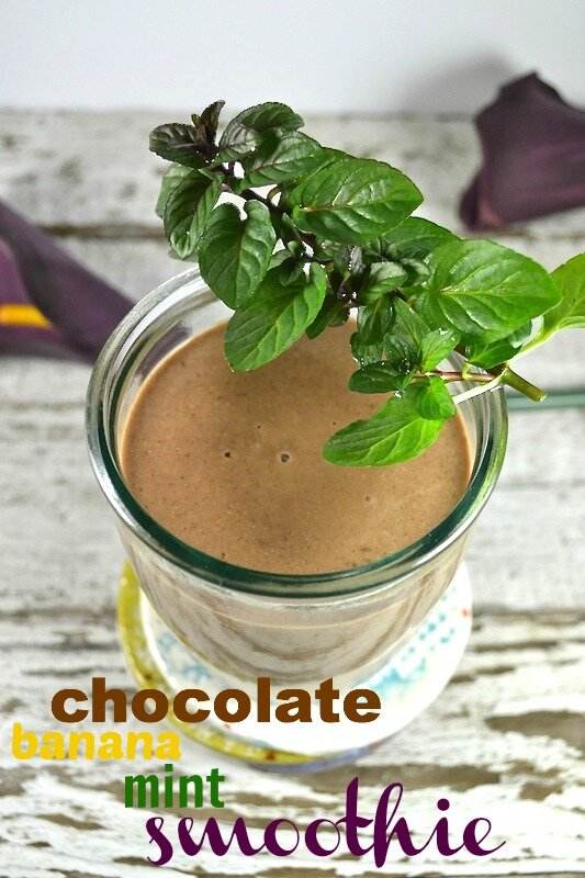 Chocolate Banana Mint Smoothie An Unrefined Vegan