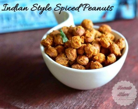 Masala Roasted Peanuts Tomato Blues