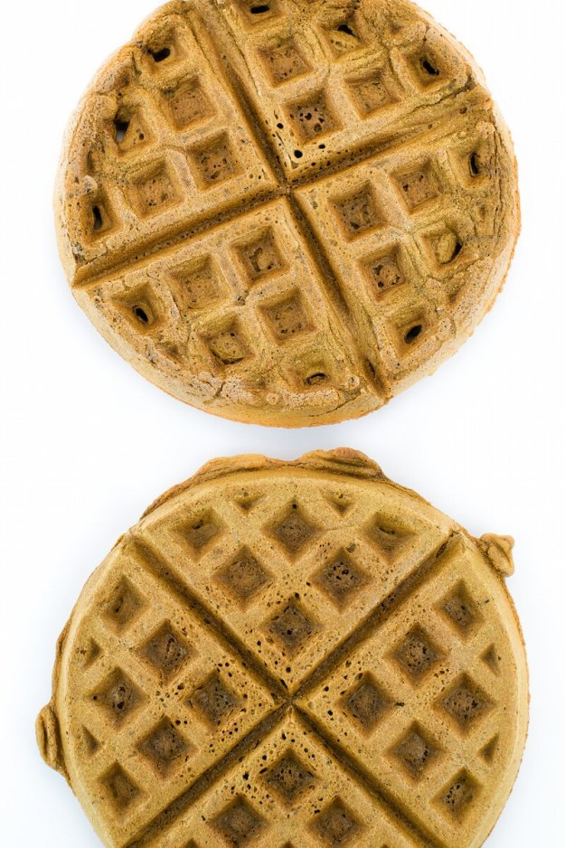 Vegan Oil-free Sugar-free Coffee Cardamom Waffles by An Unrefined Vegan