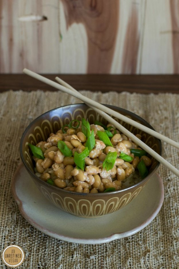 Natto over Rice by An Unrefined Vegan