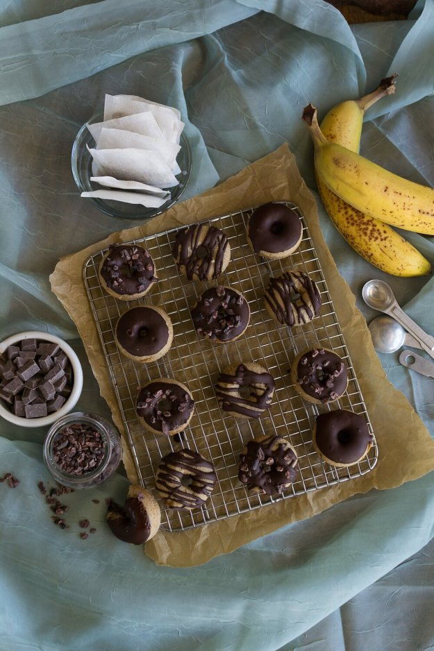 Vanilla Banana Mini Doughnuts by An Unrefined Vegan