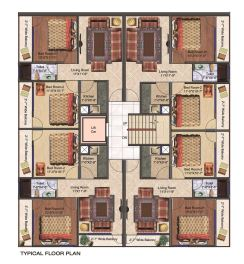 Cluster Plan 2 BHK Flats